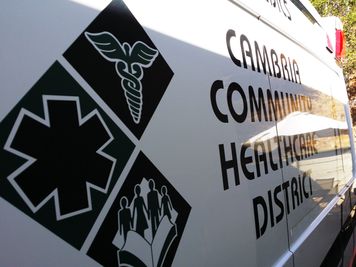 cchd company logo on the side of an ambulance